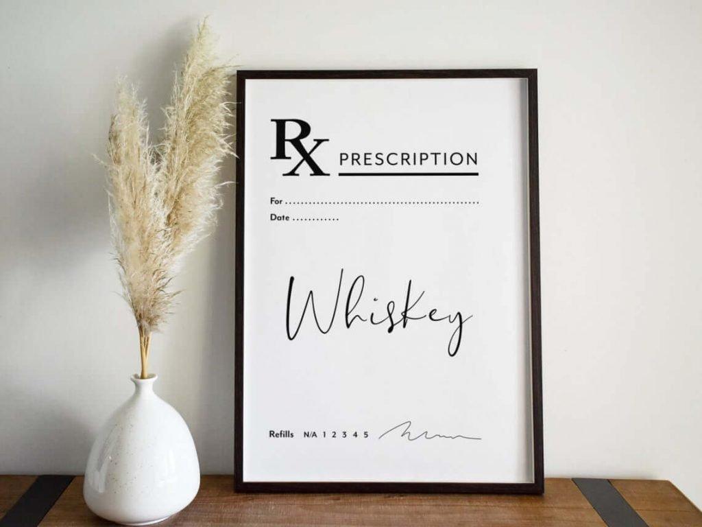 Whiskey Prescription Poster