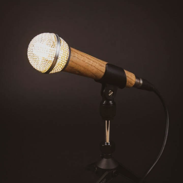 Custom made microphone by Wooden Gifts and More