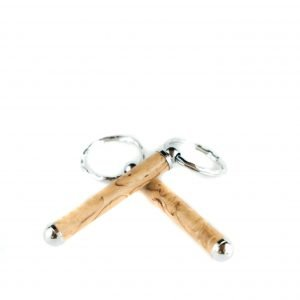 Handmade Birch Keychain - Unique Keyring