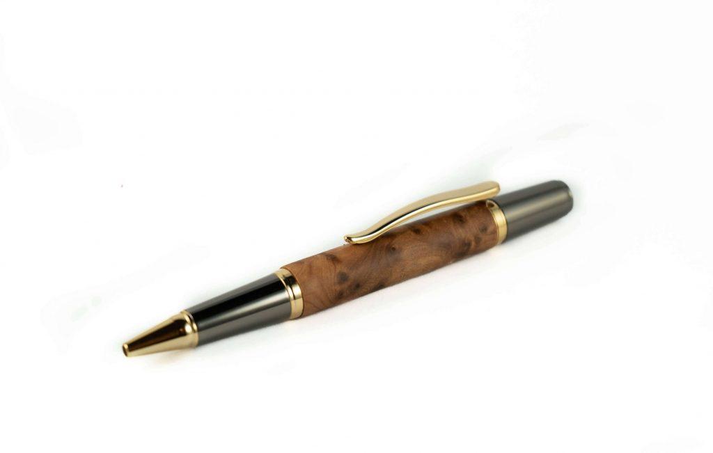 Atlas Luxury Writing Pen - Handcrafted Wooden Ballpoint Pen