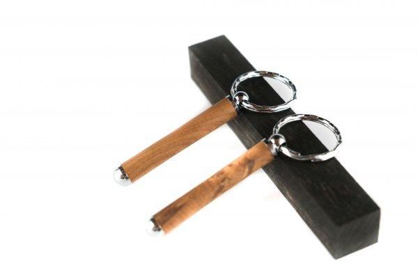 Durable Wooden Keychain - Thuya Personalized Keyring