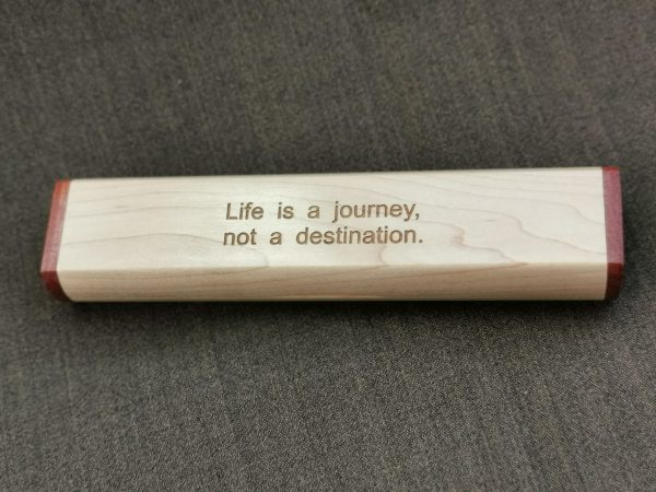 Engraved Wooden Pen Case - Personalized Goodbye Gift