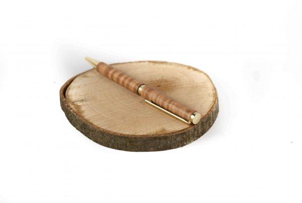 Flamed Maple Writing Pen - Sustainable Wooden Ballpoint Pen