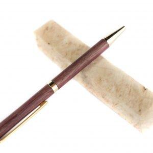 Handgemaakte Purpleheart Schrijfpen - Unieke Pen