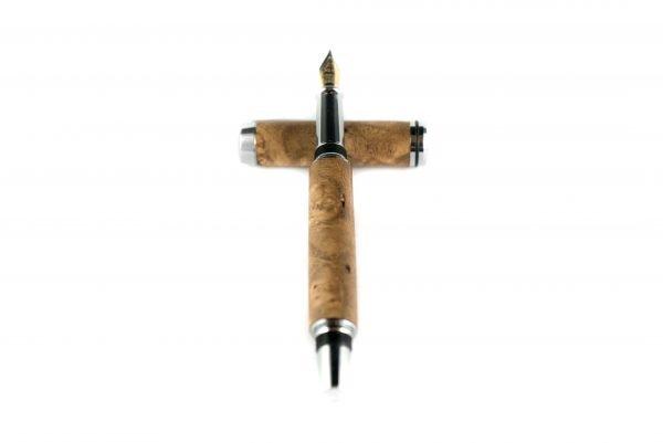 Circulair Fountain Pen - Wood Ink Pen - Reusable Fountain Pen