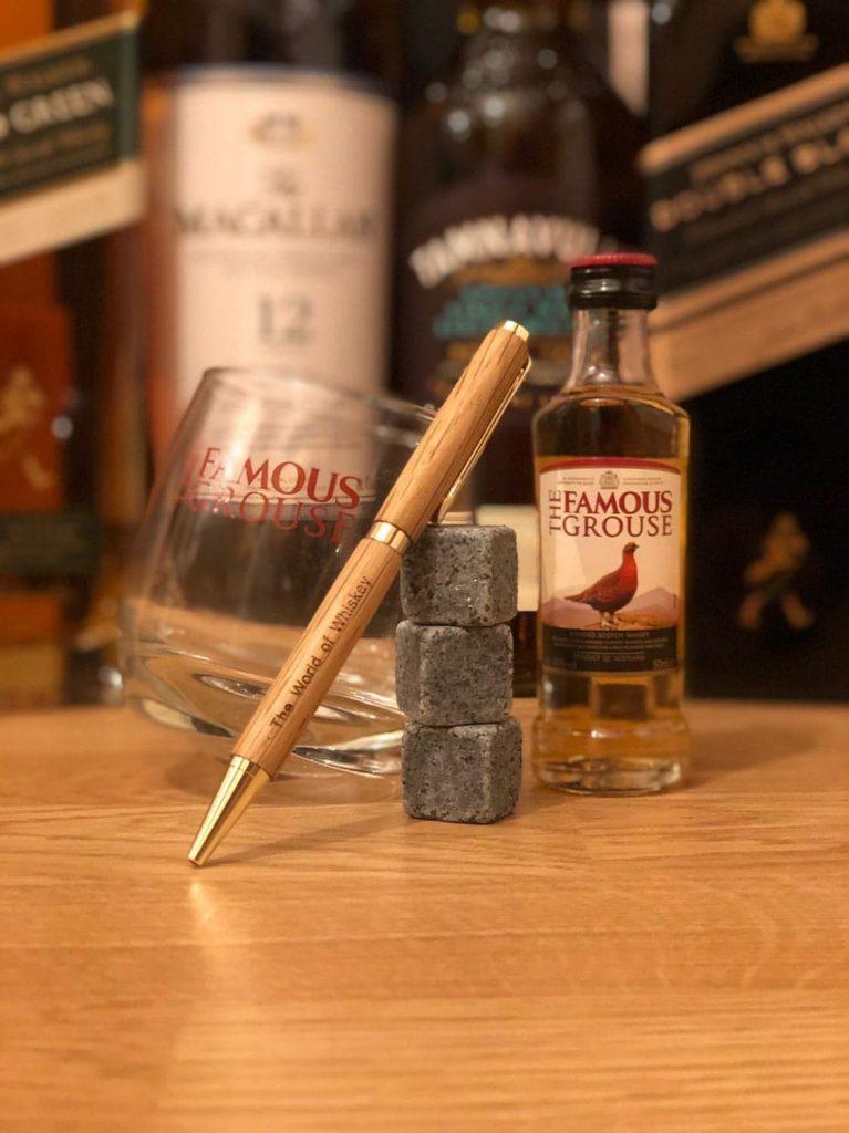 Reclaimed Whiskey Barrel Pen - Engraved Whiskey Pen