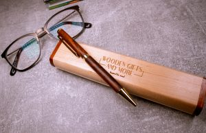 Engraved Cocobolo Ballpoint Pen - Luxury Wooden Gift