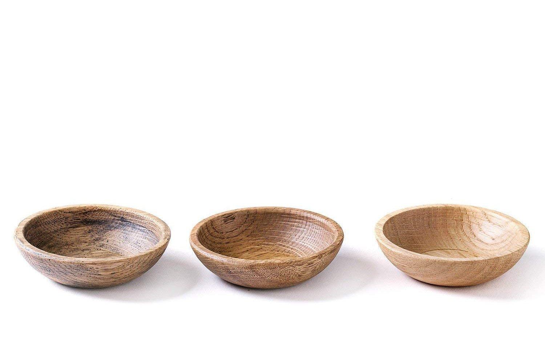 Oak Snack Bowls, Hand Turned Bowl Set
