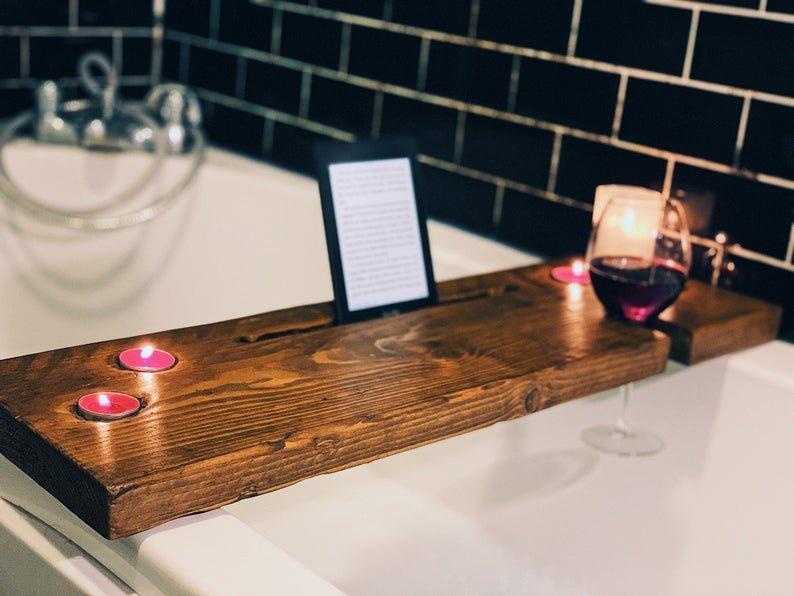 Rustic Bath Caddy - Special Bath Caddy